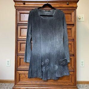 Radzoli Ombré Knit Gray Tunic